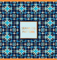 blue seamless pattern with golden inserts vector image