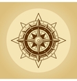 Wind rose in old retro style vector image vector image