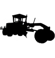 motor road grader silhouette vector image