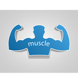 Gym label design and street workout sticker vector image