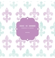Abstract textile fleur de lis stripes frame vector image