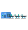 assembly line automated conveyor system vector image