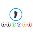 foot rounded icon vector image