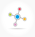 Network color technology communication icon vector image