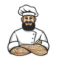 hipster chef icon vector image vector image