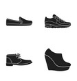 macadoles on the sole sneakers with laces men s vector image