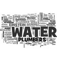 a little history about the plumber trade text vector image