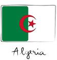 Algeria doodle flag vector image