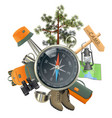 Camping Concept with Compass vector image