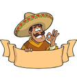 mexican with a banner vector image vector image