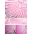 Pink backgrounds collection vector image vector image