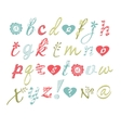 alphabet Hand drawn letters Letters of vector image
