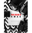 merry xmas greeting card background christmas vector image