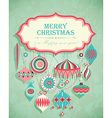 retro christmas postcard vector image