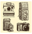 set of instant vintage and modern photo camera vector image