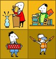 set work profession people vector image