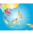 southeast asia map vector image