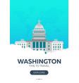 usa washington time to travel travel poster vector image