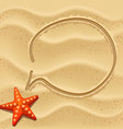 sand speech bubble vector image