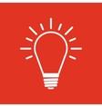 The Light lamp icon Idea symbol Flat vector image
