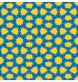 Seamless Blue Yellow Islamic Interlacing vector image