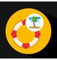 tropical vacation beach life buoy icon vector image