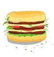 Hamburger Drawing vector image