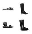 summer flip flops for rest or pool sandals for vector image