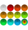 Glass round buttons set vector image