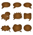 Speech chocolate bubble vector image