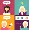 flat icon and set Different people characte vector image