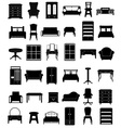 set icons furniture 06 vector image vector image