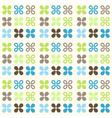 Retro Flowers Pattern vector image vector image