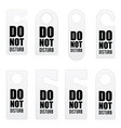 do not disturb door tag design in colorful vector image