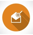 Email icon and magnifying glass vector image