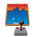 Retro game vector image
