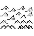 Roof set vector image