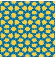 Seamless Blue Yellow Islamic Interlacing vector image