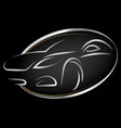 silhouettes of stylish car vector image