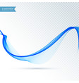 smooth abstract blue wave flowing background vector image