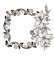 vintage floral decorative background vector image