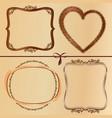 vintage wood frames vector image