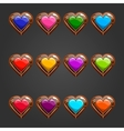 Big set with wooden heart vector image
