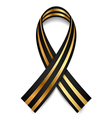 Black and gold St George Ribbon vector image