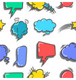 collection of speech bubble colorful style vector image