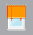 modern window with orange jalousie isolated vector image