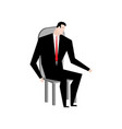 businessman on chair boss in stool manager vector image