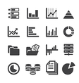 data icon set vector image vector image