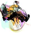woman dancing marinera vector image