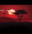 african sunset landscape vector image